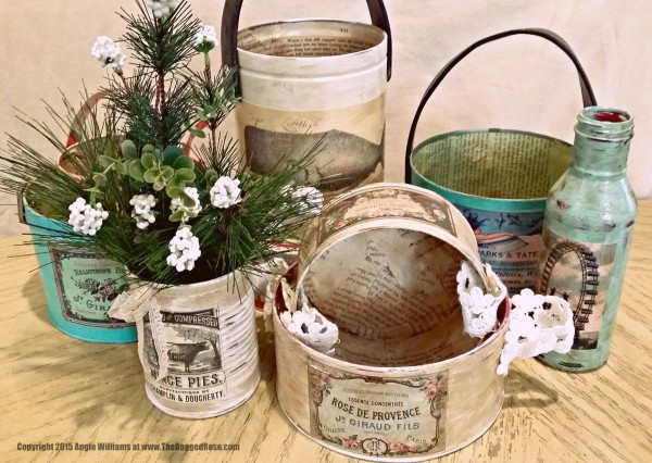 upcycle old tins with chalk paint indoor outdoor space