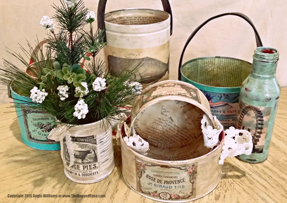 Upcycle old tins with chalk paint indoor outdoor space for Tin cans for crafts