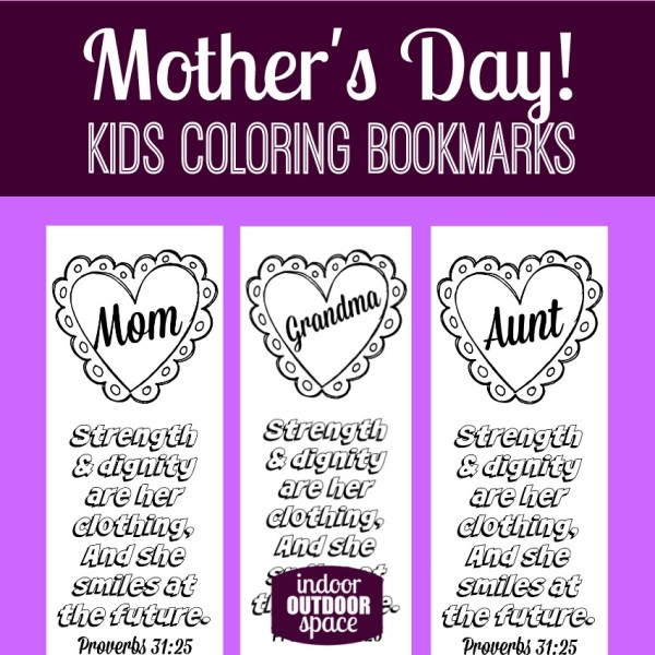 proverbs 31 mothers day scripture coloring bookmarks indoor outdoor space. Black Bedroom Furniture Sets. Home Design Ideas
